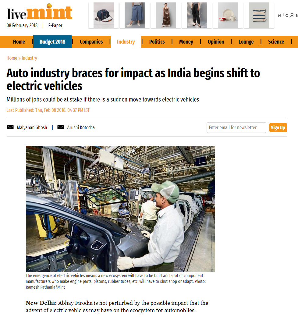 Industry braces for impact as India begins shift to EVs