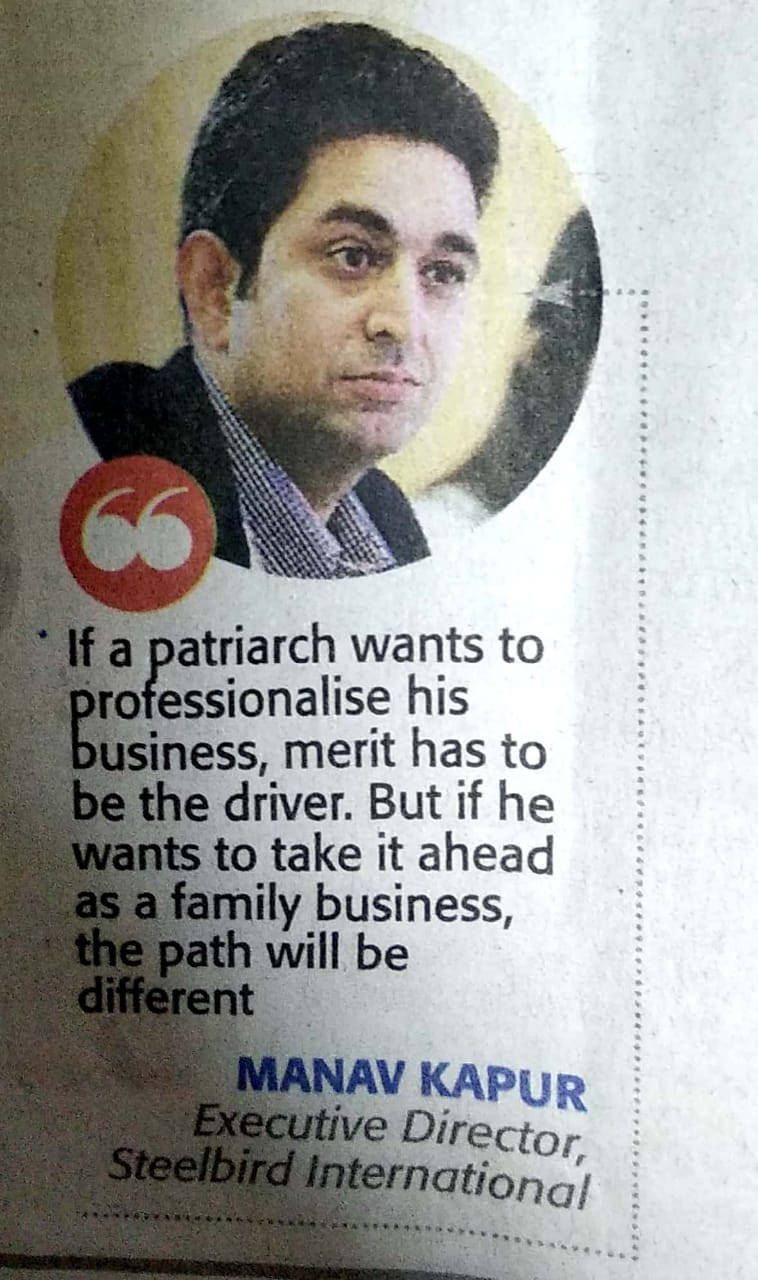 Our Executive Director Mr. Manav Kapur featured in The Economic Times