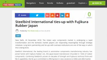 Steelbird International ties-up with Fujikura Rubber Japan