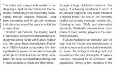Steelbird International Ties Up With Fujikura Rubber Japan