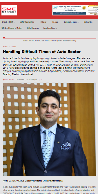 Handling Difficult Times of Auto Sector