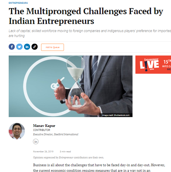The Multipronged Challenges Faced by Indian Entrepreneurs